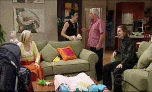 Sky Mangel, Stingray Timmins, Lou Carpenter, Dylan Timmins in Neighbours Episode 5109