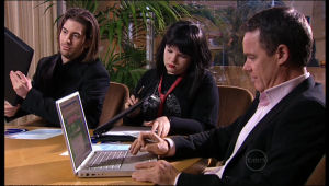 Dylan Timmins, Bree Timmins, Paul Robinson in Neighbours Episode 5123