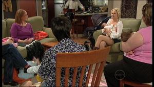Virginia Walters, Sky Mangel, Kerry Mangel (baby) in Neighbours Episode 5128