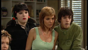 Susan Kennedy, Bree Timmins, Rachel Kinski, Zeke Kinski in Neighbours Episode 5136