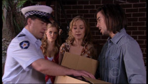 Allan Steiger, Janae Timmins, Janelle Timmins, Dylan Timmins in Neighbours Episode 5136