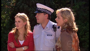 Janelle Timmins, Elle Robinson, Allan Steiger in Neighbours Episode 5136