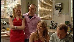 Janae Hoyland, Boyd Hoyland, Steph Scully, Max Hoyland in Neighbours Episode 5143