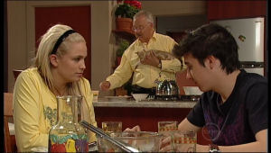 Sky Mangel, Harold Bishop, Stingray Timmins in Neighbours Episode 5146