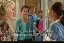 Pepper Steiger, Susan Kennedy, Ringo Brown, Rachel Kinski, Louise Carpenter (Lolly) in Neighbours Episode 5150