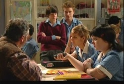 Karl Kennedy, Zeke Kinski, Ringo Brown, Rachel Kinski, Bree Timmins in Neighbours Episode 5150