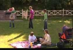 Max Hoyland, Steph Scully, Boyd Hoyland, Summer Hoyland, Charlie Hoyland, Janae Timmins in Neighbours Episode 5150