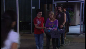 Sky Mangel, Stingray Timmins, Kerry Mangel (baby), Dylan Timmins in Neighbours Episode 5154