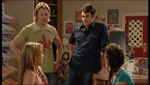Steph Scully, Oliver Barnes, Frazer Yeats, Carmella Cammeniti in Neighbours Episode 5159