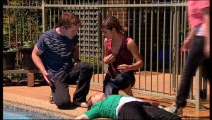 Ringo Brown, Rachel Kinski, Sandy Allen in Neighbours Episode 5162
