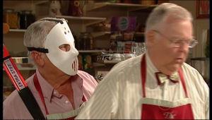 Lou Carpenter, Harold Bishop in Neighbours Episode 5166