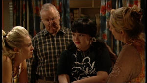 Sky Mangel, Harold Bishop, Bree Timmins, Janelle Timmins in Neighbours Episode 5169