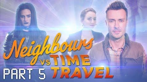 Tyler Brennan, Piper Willis, Robert Robinson  in Neighbours Webisode Neighbours vs Time Travel Part 5