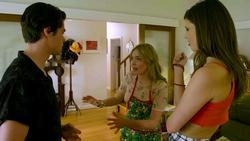 Ben Kirk, Xanthe Canning, Kylie Canning  in Neighbours Webisode Christmas Crackers/Summer Stories 1