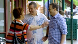 Angie Rebecchi, Toadie Rebecchi, Stonie Rebecchi  in Neighbours Webisode Christmas Crackers/Summer Stories 5