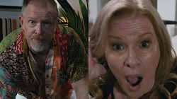 Clive Gibbons, Sheila Canning  in Neighbours Webisode Sheila and Clive, A Long Distance Love Story Part 2 - Hot and Bothered