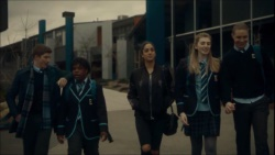 Hendrix Greyson, Jeremiah Annan, Yashvi Rebecchi, Mackenzie Hargreaves, Richie Amblin  in Neighbours Webisode Episode 5 - Friday