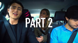 Leo Tanaka, Milly, David Tanaka  in Neighbours Webisode Road Trip Part 2