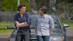 Leo Tanaka, David Tanaka  in Neighbours Webisode Road Trip Part 3